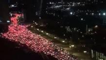 Il traffico paralizzato a Baku