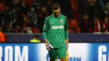 Morgan De Sanctis non può nulla contro il Bayer Leverkusen. Reuters