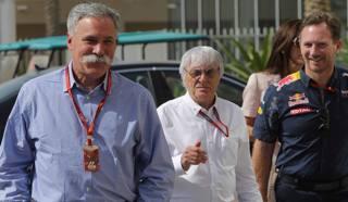 Chase Carey, 62 anni, con Bernie Ecclestone, 86, rispettivamente presidente e amministratore delegato della F.1 LAPRESSE