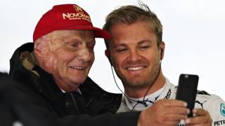 Niki Lauda e Nico Rosberg. Getty