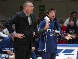 Gianmarco Pozzecco, a destra, con Repesa ai tempi della Fortitudo. Ciamillo