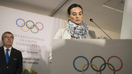 Yelena Isinbayeva. Afp