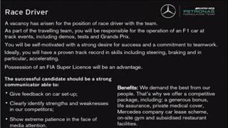L'annuncio della Mercedes su Autosport