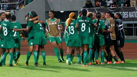 La gioia delle calciatrici nigeriane dopo la conquista della Coppa d'Africa