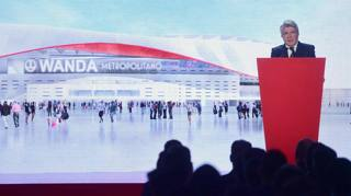 Ecco il rendering di come sarà il nuovo stadio dell'Atletico Madrid. Afp