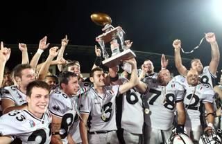 I Panthers in festa con il Super Bowl 2011. A. Liverani