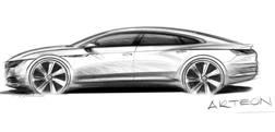 Il bozzetto della Volkswagen Arteon che dovrebbe esordire a marzo 2017 a Ginevra