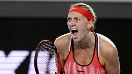 La grinta di Petra Kvitova . Ap