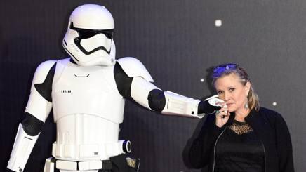 Carrie Fisher in un'immagine dello scorso dicembre. Epa
