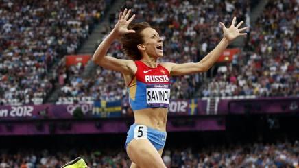 Mariya Savinova , fra gli atleti sospesi. Ap