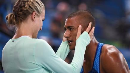 Brianne e Ashton Eaton ai Giochi di Rio. Afp