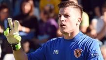 Alessio Cragno, portiere del Benevento in prestito dal Cagliari. Lapresse