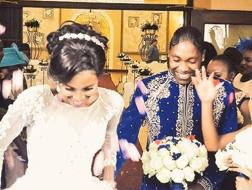 Caster Semenya e Violet al matrimonio