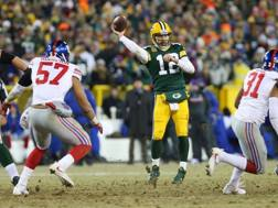 Il quarterback dei Green Bay Packers, Aaron Rodgers