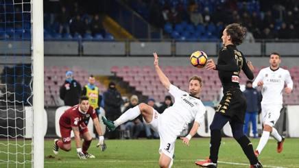 Il gol di Gabbiadini. Ansa