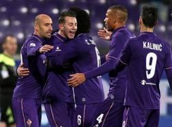 L'esultanza dei calciatori della Fiorentina. Getty