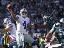 Dak Prescott, 23 anni, quarterback rookie dei Dallas Cowboys, scelto al terzo giro, uscito da Mississippi State AFP