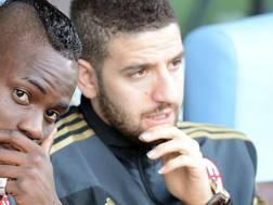 Adel Taarabat, 27 anni, con Balotelli ai tempi del Milan. LaPresse