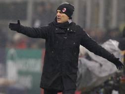 Vincenzo Montella, tecnico del Milan. Ap