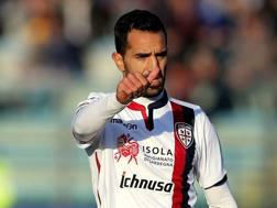 Marco Sau, attaccante del Cagliari. Getty