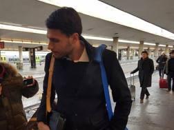 Il portiere Marco Sportiello, 24 anni, alla stazione di Firenze