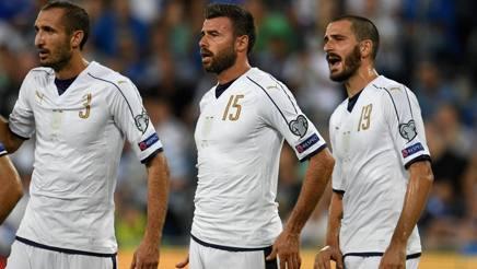 I difensori della Juve e della Nazionale Chiellini, Barzagli e Bonucci. Getty