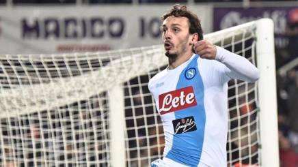Manolo Gabbiadini, attaccante del Napoli. Ansa