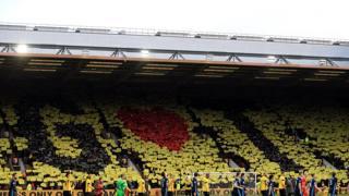 Watford, l'omaggio commovente a Graham Taylor