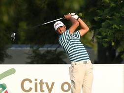 Edoardo Molinari in azione al Glendower Golf Club . Getty