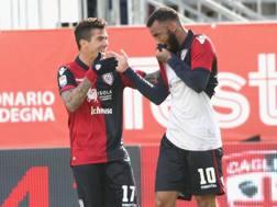 La gioia dei brasiliani Farias (a sinistra) e Joao pedro, grandi protagonisti della gara. Getty Images