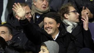 Fiorentina, che festa in tribuna.  E gioisce anche Renzi