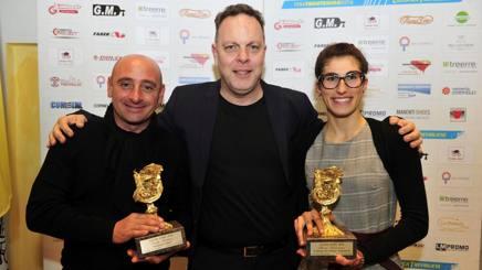Da sinistra Paolo Bettini, il presidente della Ciclistica Trevigliese, Marco Taddeo, ed Elisa Balsamo. Roberto Bettini