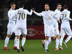 Bacca e Bertolacci, autori dei due gol del Milan. Getty