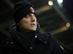 L'allenatore del Milan Vincenzo Montella. Afp