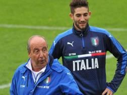Giampiero Ventura e Roberto Gagliardini. Ansa