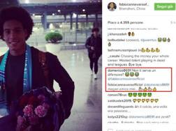Lo scambio Criscito-Cannavaro su Instagram
