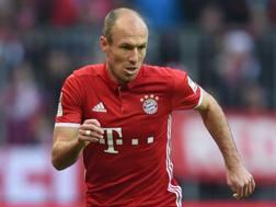 Arjen Robben, attaccante olandese del Bayern. Afp
