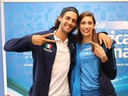 Gianmarco Tamberi, 24 anni, e Alessia Trost, 23. Colombo