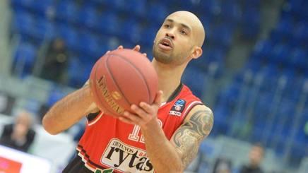David Logan, ex Sassari, in maglia Lietuvos Rytas . Eurocup