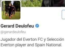 Il profilo twitter di Deulofeu.