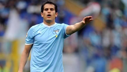 L'ex centrocampista della Lazio Cristian Ledesma, 34 anni. LaPresse