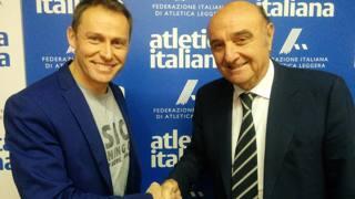 Stefano Baldini, d.t. dell'attività giovanile ed Elio Locatelli, d.t. degli atleti di punta