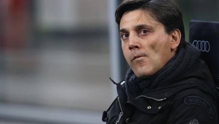 Il tecnico del Milan Vincenzo Montella. Reuters