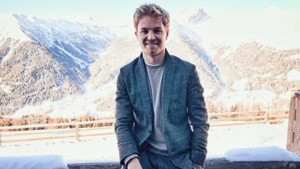Nico Rosberg ospite al Forum economico di Davos, in Svizzera