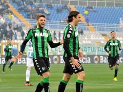 Alessandro Matri festeggia il gol dell'1-0. LaPresse