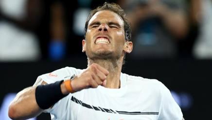 L'esultanza di Rafa Nadal: ai quarti troverà Milos Raonic. Getty Images
