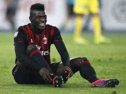 M'Baye Babacar Niang, 22 anni, attaccante francese del Milan. LaPresse