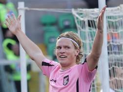 Oscar Hiljemark, 24 anni, centrocampista svedese del Palermo. LaPresse