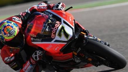 Chaz Davies in azione sulla Ducati