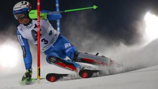 Henrik Kristoffersen, 4 slalom già vinti quest'anno. Ap